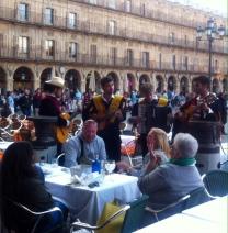 Traditional musicians entertain