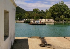 Chain ferry at Butrint